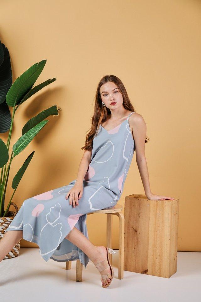 Nalani Abstract Maxi Dress in Mint (L)