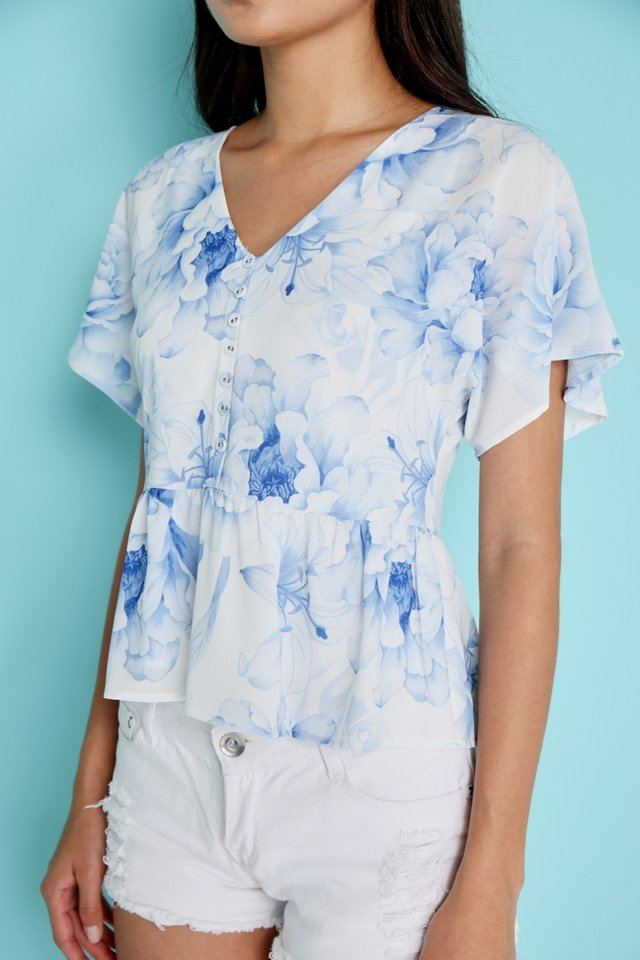 Amie Romantic Floral Babydoll Top (XS)