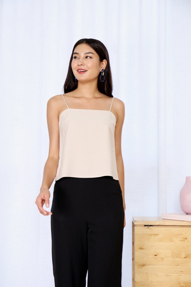 Ozanna Camisole Crop Top in Ecru