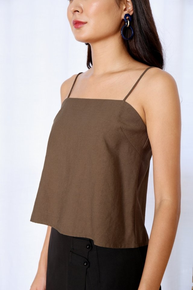Ozanna Camisole Crop Top in Olive