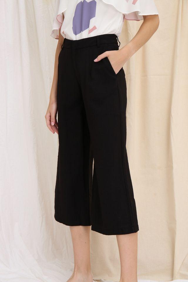 Dalinda Wide Leg Culottes in Black