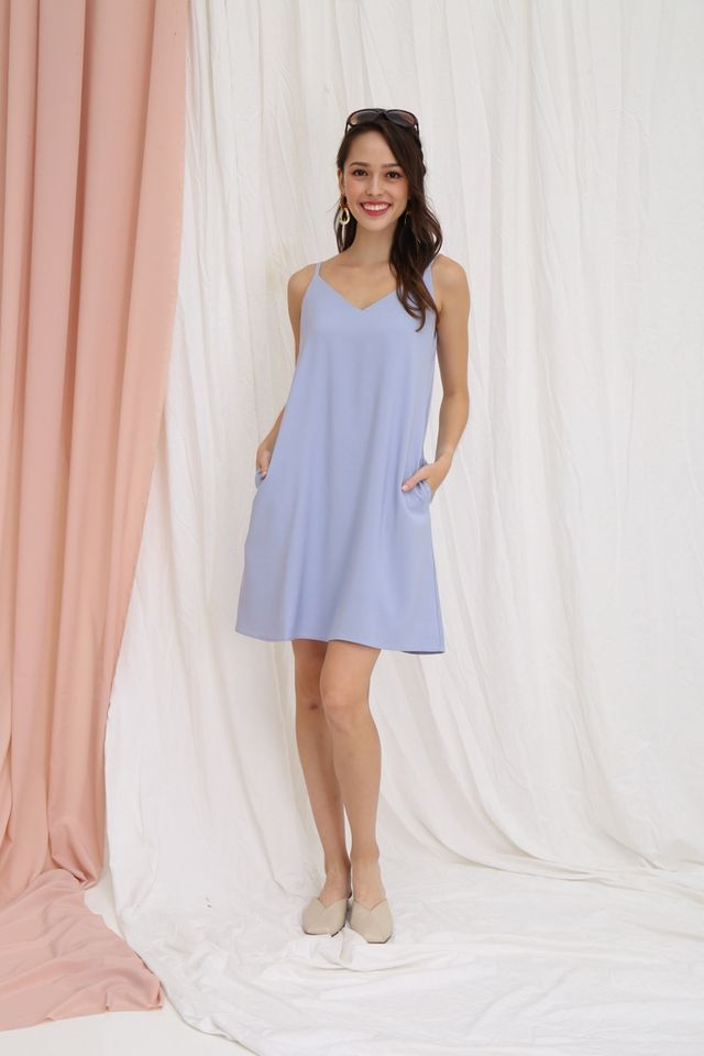 Bernadette Camisole Dress in Periwinkle Blue
