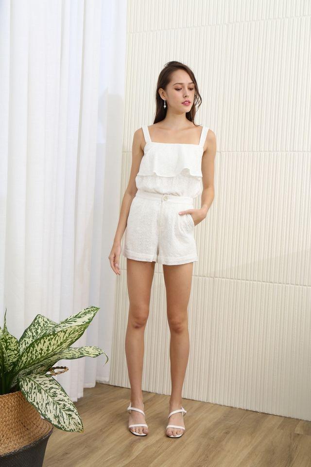 Alisson Eyelet Pocket Short in White
