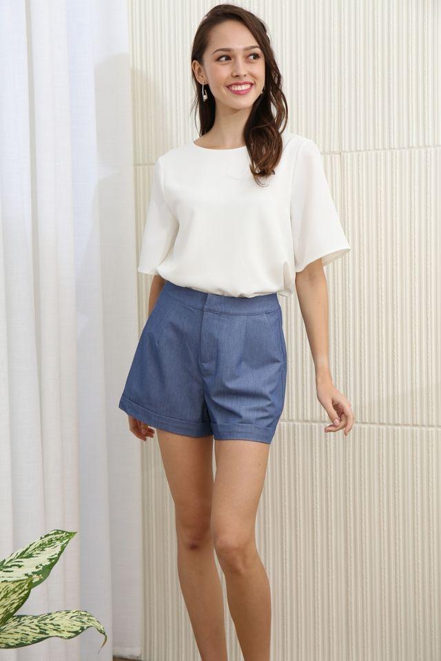 Kaiya Pocket Short in Denim Blue