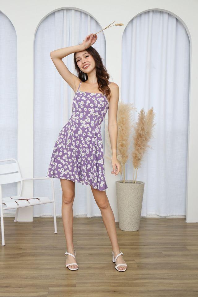 Vianca Daisy Camisole Dress in Purple