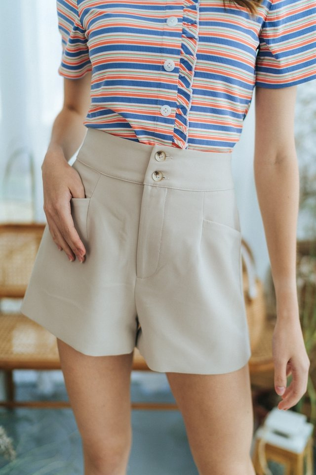 *BACKORDER* Harlow Button Pocket Shorts in Sand