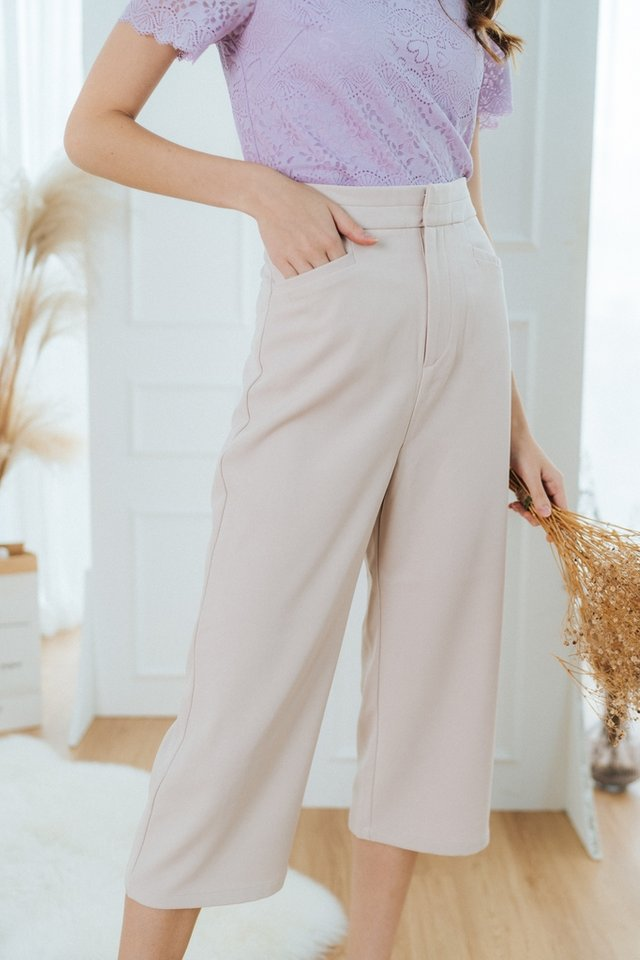 Cindie Panel Waist Culottes in Sand