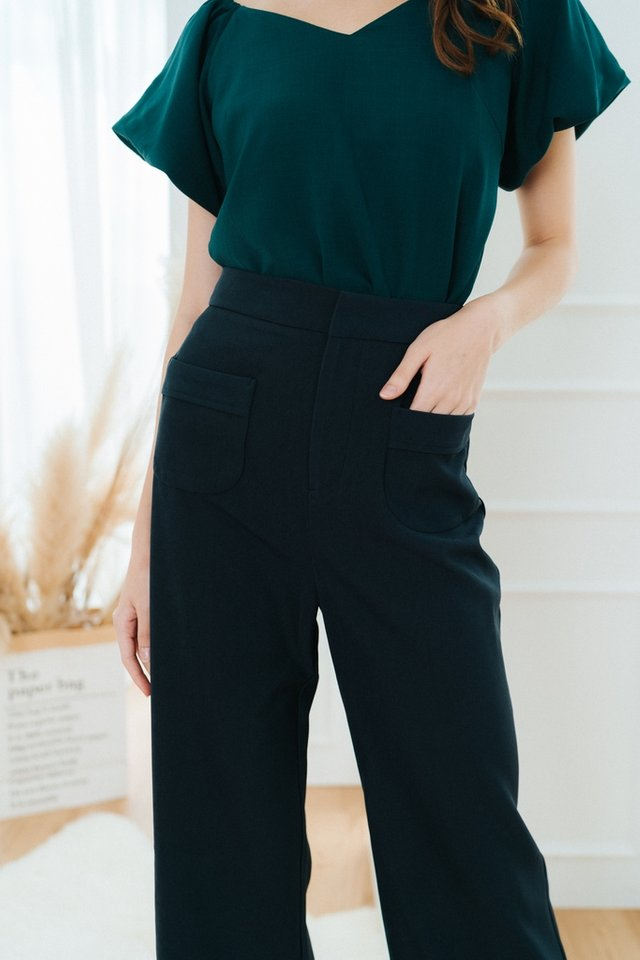 Charvi Pocket Culottes in Navy