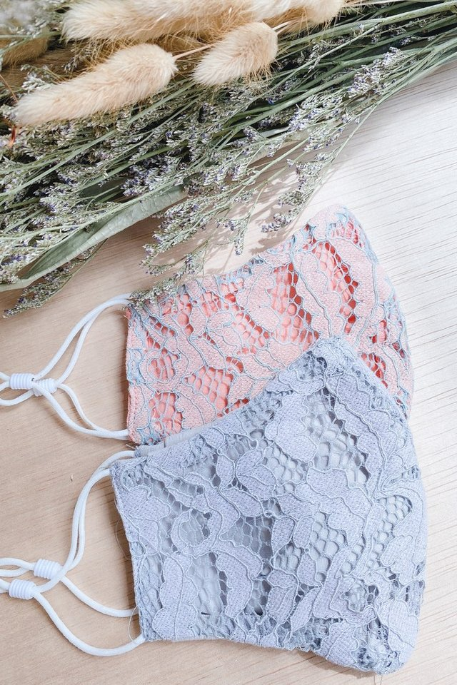 TSW Everlyn Lace Mask in Pink