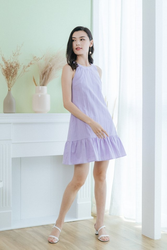 Layne Halter Ruffles Dress in Lilac