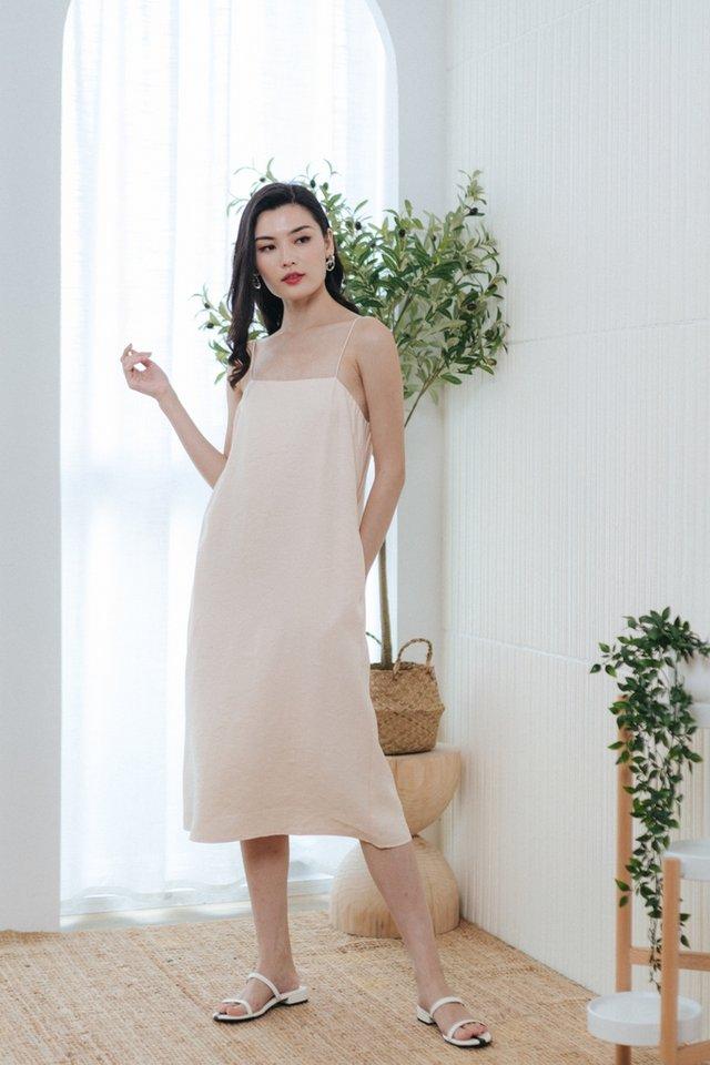 Asma Camisole Midi Dress in Cream