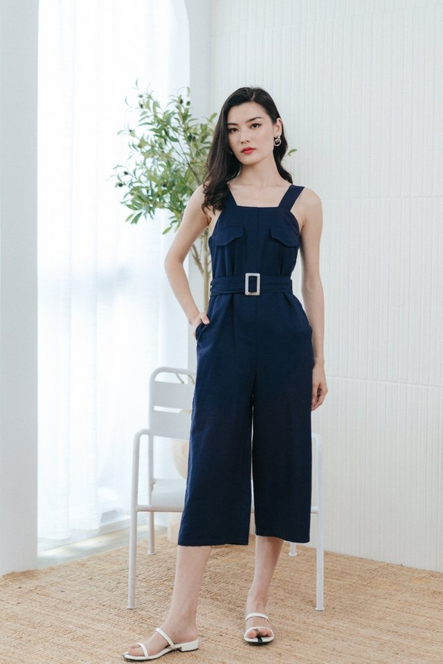 Paulina Pocket Jumpsuit in Navy