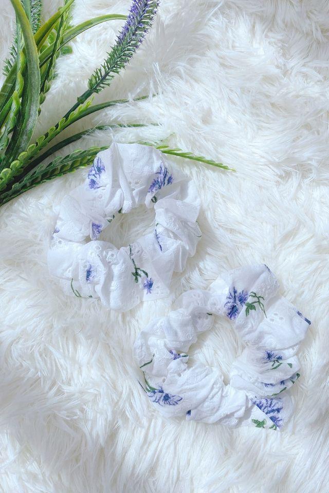 TSW Scrunchie in Purple Floral