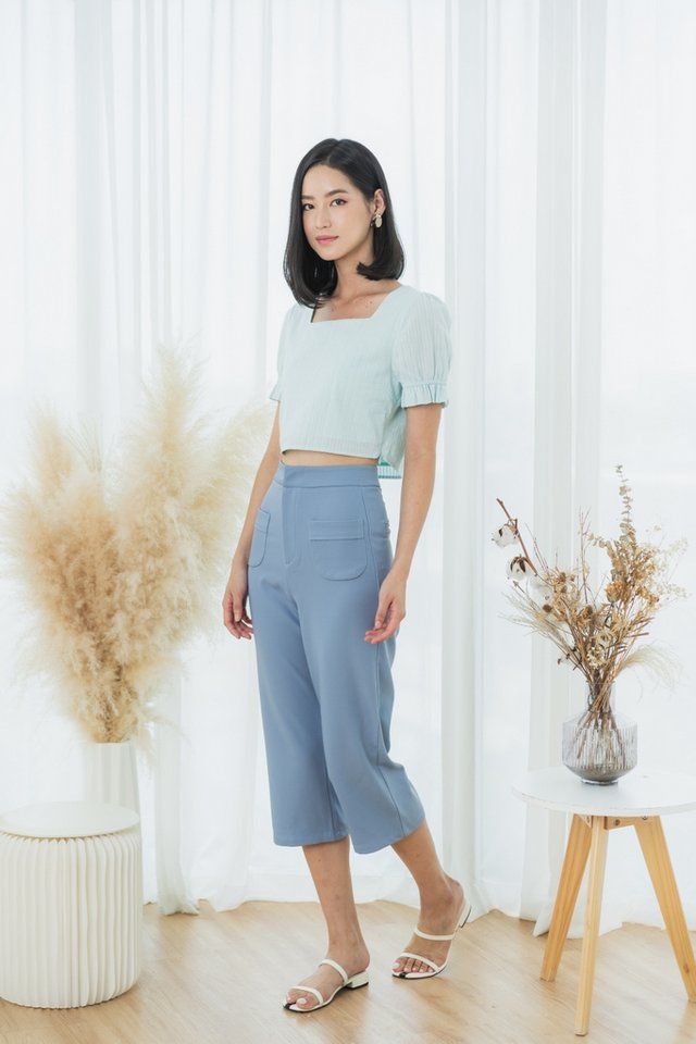 Charvi Pocket Culottes in Cornflower Blue