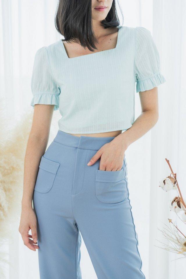 Charvi Pocket Culottes in Cornflower Blue