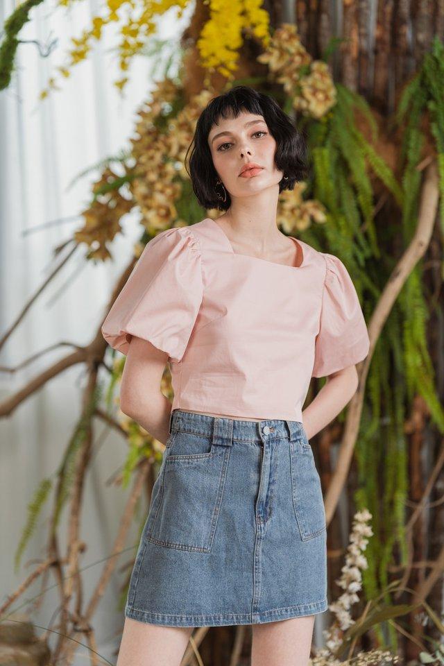 Sherri Denim Skirt in Light Wash