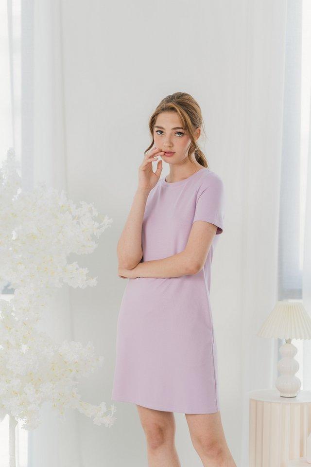 Eliana Cotton Basic Dress in Lilac