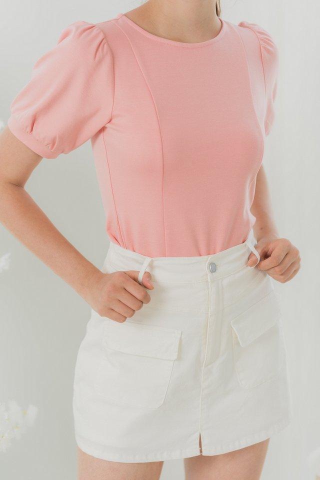 *BACKORDER* Sophie Pocket Denim Skorts in White