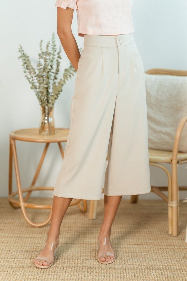 Jelena Double Button Culottes in Sand