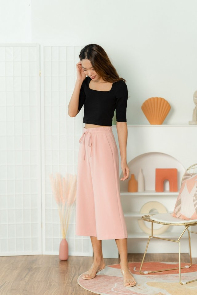 Karina Tie-Front Culottes in Pink