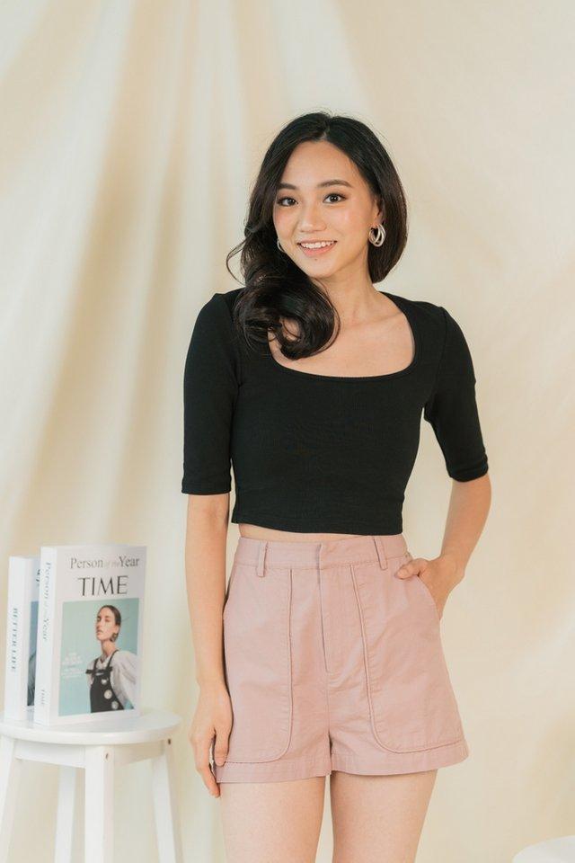 Janessa Pocket Shorts in Dusty Pink