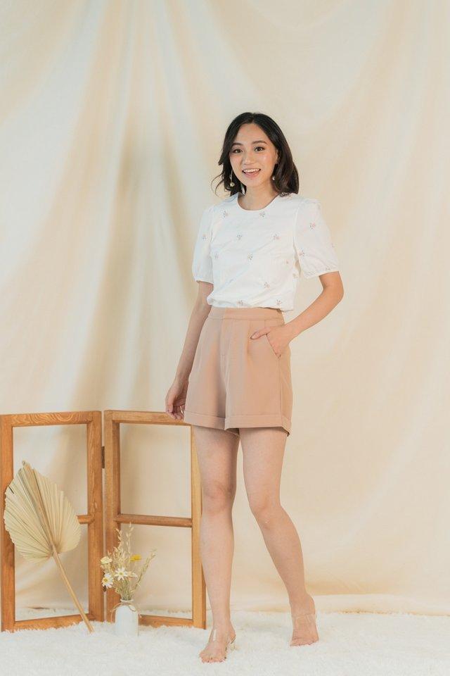 Josie Pocket Shorts in Caramel
