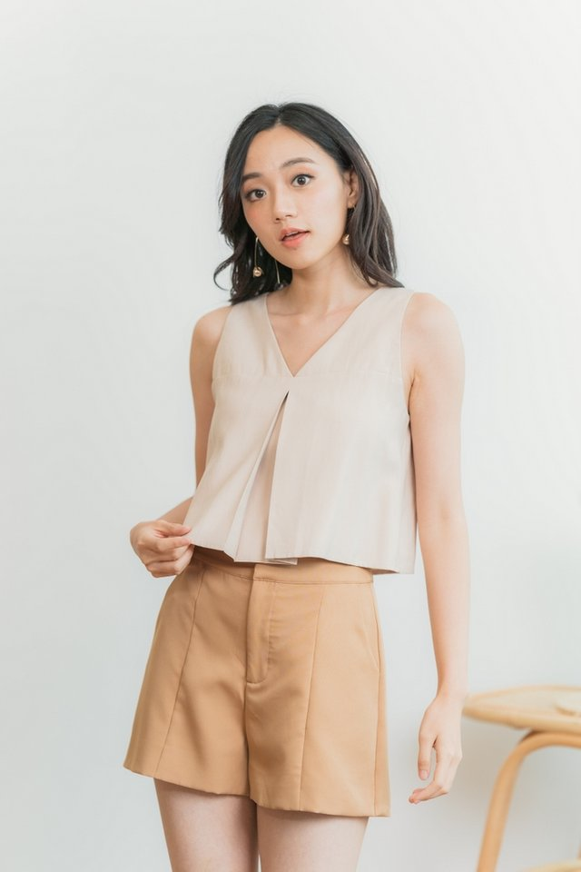 Beverly Pocket Shorts in Coffee